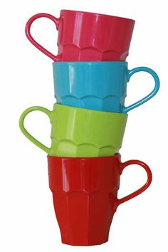 Rice curved handle Mug - available in 4 different colours and perfect to combine with the other RICE tableware. At last you can drink a cuppa with a proper mug, not having to worry whether the mug may smash on your journey.  http://www.tinderandtide.co.uk/product.php?cid=398&pid=319