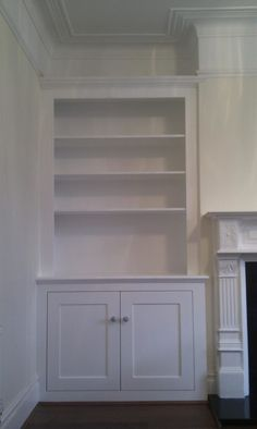 Alcove Cupboards & Shelving - PJH Carpentry and Joinery Alcove Cupboards & Shelving -. Alcove Ideas Living Room, Desk In Living Room, Living Room Shelves, Living Room Storage, Living Room Designs, Built In Cupboards Living Room, Dining Room, Kitchen Storage, Alcove Storage