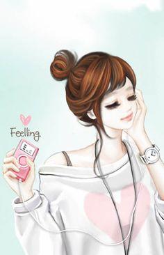 캐릭터 무료 폰배경(안드로이드앱) Cartoon Girl Images, Girl Cartoon Characters, Cute Cartoon Pictures, Cute Cartoon Girl, Cool Anime Girl, Cute Love Cartoons, Anime Art Girl, Cute Girl Hd Wallpaper, Unicornios Wallpaper