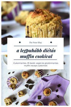 a legpuhább csokis diétás muffin glutén-, tej- és tojásmentesen, IR-barát kiadásban #thepuur #mindenmentes #muffin #cukormentes #inzulinrezisztancia #diéta #gluténmentes #vegán
