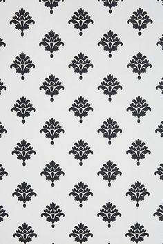Wallpaper - The Provencal Wallpaper is a classic damask pattern wall covering in black and white. Wallpaper Stencil, Unique Wallpaper, Damask Wallpaper, Paper Wallpaper, Designer Wallpaper, Temporary Wallpaper, Screen Wallpaper, Geometric Wallpaper Iphone, Stamps