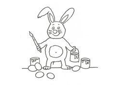 8807-dibujo-de-un-conejo-artista-para-colorear-con-ninos.jpg (600×450)