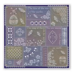 Linda's Bees, Butterflies & Dragonflies A5 Square Groovi Plate Set – Claritystamp