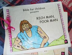 The Rich Man and Lazarus Craft Projects. God's Promises by Sarah Michael, lesson 3.