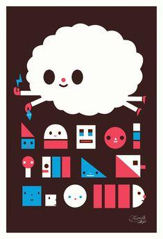Cloud_King-Friends_With_You-Screenprint-trampt-22491o.jpg (800×1169)