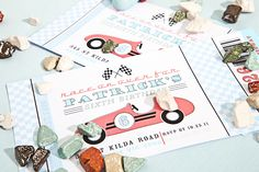 Anders Ruff race car printable invitation