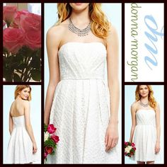"""❗️1-HOUR SALE❗AMAZING ️White DRESS Party Strapless RETAIL PRICE: $178 NEW WITH TAGS  White Party Dress Short Formal   * Strapless front  * Allover textured embellished crochet lace fabric; fully lined  * Hidden Back zip closure  * Tagged 14 (L) will approx fit size L (12-14)  * Fit-and-flare & A-Line, approx 29"""" from top of bodice to hem   * Vintage style. Prom , party, wedding  Fabric: 60% Nylon & 40% Cotton Color: White Item: Pastel No Trades ✅ Offers Considered*/Bundle Discounts✅ *Please…"""