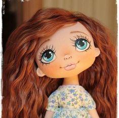 куклы с большими глазами Doll Face Paint, Doll Painting, Girl Dolls, Baby Dolls, Cartoon Eyes, Sock Dolls, Fabric Toys, Doll Eyes, Sewing Dolls