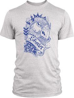 Big Texas Praying Eyeball Skater (Blue) Vintage Tri-Blend T-Shirt
