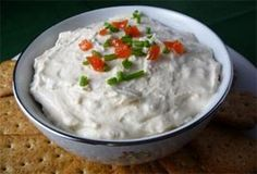 Best Seafood Appetizer: Clam Dip Even people who don't usually like seafood love this clam dip! It's best served with pretzels for dipping. 2 8 oz. pkgs of cream cheese (softened) 2 6.5 oz. cans of minced clams 1 tsp Worcestershire sauce, or to taste Beat softened cream cheese til smooth. Add in Worcestershire sauce + two cans of minced clams. Add in ¾ of juice from cans of claims, more or less depending on your preference of consistency. Mix + serve.