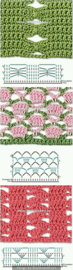 Punti crochet per realizzare tovaglie, coperte, copertine, sciarpe e quant'altro.