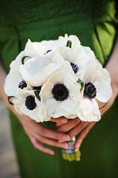 White Anemony Bouquet