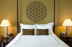 Flower of Life Vinyl Wall Decal Sticker Art Seed of Life Namaste Great Holiday Christmas Gift