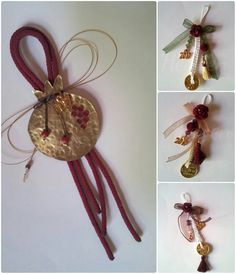 Lucky Charm, Pomegranate, Flower Arrangements, Dream Catcher, Projects To Try, Charmed, Drop Earrings, Christmas Ornaments, Flowers