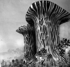 Rotating Mangrove Towers – New Indonesian Sustainability