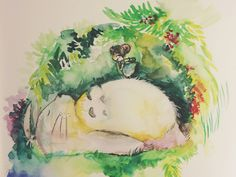 Watercolor: Wildest Dreams, to be on Totoro's tummy https://dribbble.com/shots/1582095-Watercolor-Wildest-Dreams?list=usersoffset=0