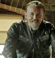 Chibs, smiling!