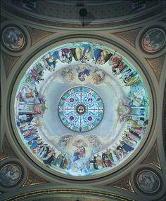 Conservation of murals by John A. Mallin in the dome at the St. Hyacinth Basilica, Chicago, IL