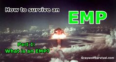 There is a credible threat to our power grid from an EMP/CME. This series will explain what they are, how they can/will affect you, and what...