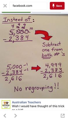No need to Regroup. Subtract in a different way! I wish someone had told be about this sooner! No need to Regroup. Subtract in a different way! I wish someone had told be about this sooner! Math For Kids, Fun Math, Math Skills, Math Lessons, Piano Lessons, Maths 3e, Math Help, Learn Math, Math Anchor Charts