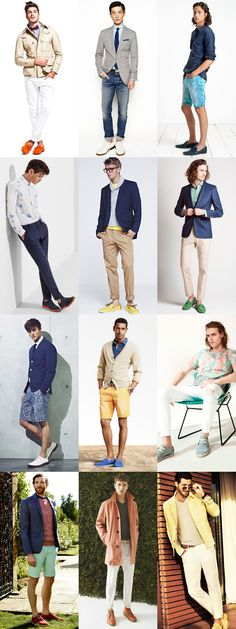 Men's Colourful Shoes - Summer Outfit Inspiration Lookbook
