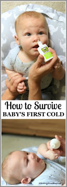 How to Survive Baby's First Cold - All things Baby - Baby Tips Baby Cold Remedies, Natural Sleep Remedies, Baby Care Tips, Baby Tips, Babys First Cold, Baby Supplies, Baby Development, Baby Health, Newborn Care