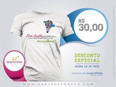 #NarjaraFrança em parceria com #Engenhocas  Prazo de Entrega: 5 dias *FRETE não incluso   PEDIDOS narjara.design @ gmail.com  #NãoDesista #Camisetas