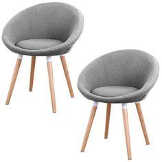 Chaise de visiteur design scandinave accoudoirs pieds bois massif