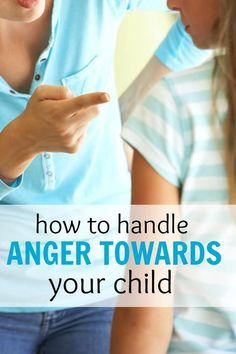 How to handle anger towards your children. Good read for mothers who feel they have anger issues.