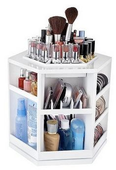 I don't have tons of make-up but this is a great way to organize!