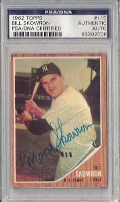 Bill Moose Skowron 1962 Topps 110 Signed Autographed PSA DNA Auto 83392006 | eBay #billmoose #moose #skowron #1962 #topps #signedcard #autograph