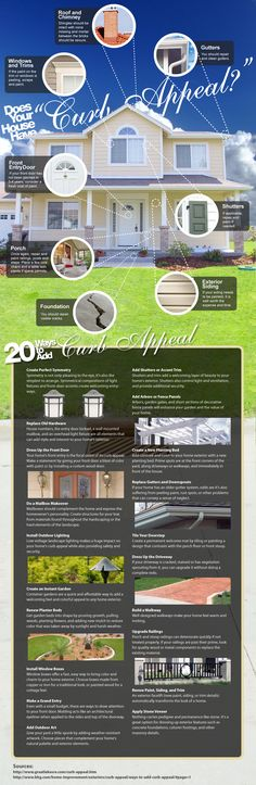 Does your home look bland? Want to be the talk of the block? 20 Curb Appeal Tips #curbappeal #homeownership