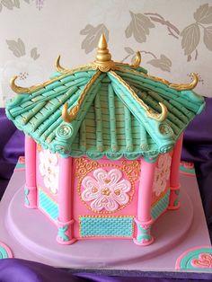 Chinese Pagoda cake by deborah hwang, via Flickr