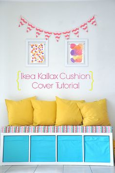 Ikea Kallax/Expedit Removable Cushion Cover Tutorial by House of Lane