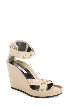 Balenciaga Studded Ankle Strap Wedge Sandal (Women) available at #Nordstrom