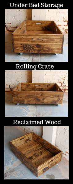 I could use one of these rolling crates under every bed in our house. #organization #storage #storageideas #StorageSolutions #ad