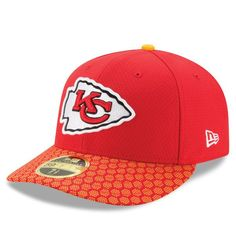 huge selection of db562 f8e8d Men s New Era Red Kansas City Chiefs 2017 Sideline Official Low Profile  59FIFTY Fitted Hat