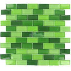 Clear View Tiles   CV-GLSBLEND31X2   green   Tile > Glass Tile