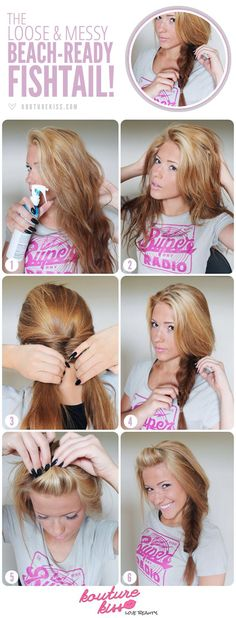 The Loose and Messy Beach-Ready Fishtail Braid... I wish my hair was long enough for this!!