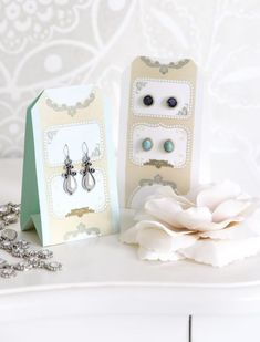 How to Make Jewelry Cards - this is a great way to package handmade jewelry for gifts or for sale - via Ariadne at Home