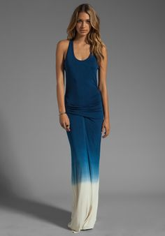 YOUNG, FABULOUS & BROKE Hamptons Dress in Dark Teal Ombre at Revolve Clothing - Free Shipping!