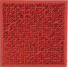 Bernard Aubertin, Senza titolo, 1969, chiodi e acrilico su tavola, cm. 30x30x4