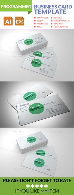 Programmer Business Card Template PSD | Buy and Download: http://graphicriver.net/item/programmer-business-card/8899125?WT.ac=category_thumb&WT.z_author=hthelal&ref=ksioks