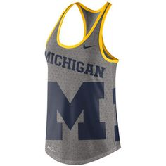 Nike Michigan Wolverines Women's Gray Dri-Blend Gear Up Performance Tank Top #wolverines #goblue #michigan
