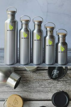 Stainless steel + 100% nature bamboo, 0% plastic, 🌱 Alternative lids as you like.  #ecobottle #reusablebottle #ecobusiness #ecoliving #nomoreplastic #beachclean #naturalproducts #plasticfreechallenge #livesustainably #sustainableliving #environmentallyfriendly #sustainablelifestyle #zerowaste #bamboobottle #ecoliving #gogreen Stainless Steel Drink Bottles, Clean Beach, Sustainable Living, Bamboo, Alternative, Water Bottle, Plastic, Nature, Naturaleza