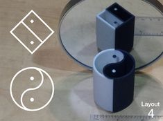 Improved Ambiguous Cylinder Illusion (Layout by Skarabajo on Shapeways. Learn more before you buy, or discover other cool products in Mathematical Art. 3d Printed Objects, Science Toys, Perfect Curves, Toy Store, 3d Printer, Illusions, Physics, Chrome, Layout