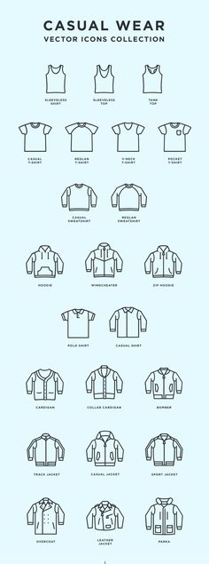 Free Casual Wear Icons | Outfit icons | Attire icons