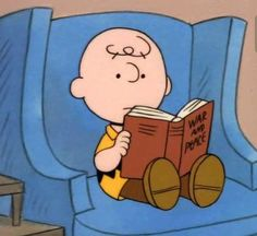 Charlie Brown reads War and peace Vintage Cartoon, Cute Cartoon, Photowall Ideas, Snoopy Wallpaper, Reading Wallpaper, Cartoon Profile Pictures, Charlie Brown And Snoopy, Cartoon Icons, 6 Photos