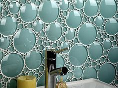 Glass tile - this would be so quirky and amazing in a shower!
