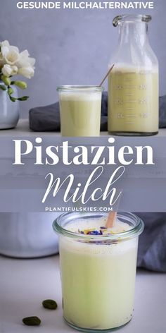 The perfect milk alternative for stress & depression! A delicious Ayurveda recipe for everyone who loves healthy recipes. Vegan and gluten-free, lactose-free, sugar-free, raw vegan. Ayurveda, Healthy Milk, Healthy Drinks, Milk Alternatives, Healthy Alternatives, Smoothie Drinks, Smoothies, Detox Drinks, Pistachio Milk
